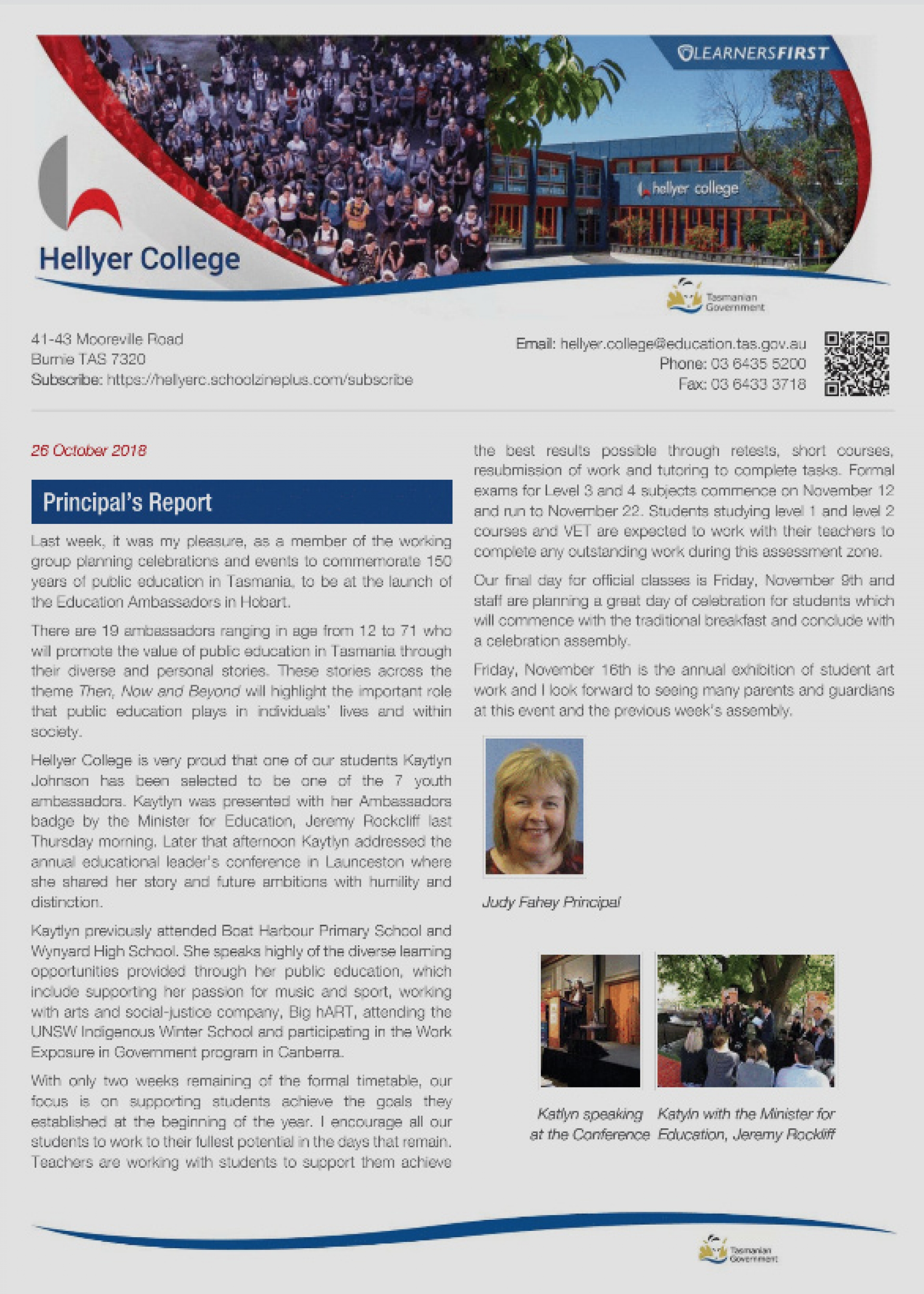 Newsletters - Hellyer College